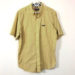 Chaps Mens short sleeve Button Down Shirt Checks